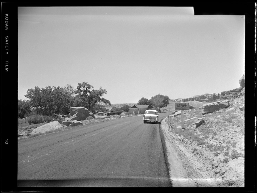 Historic Photo: Entering Bluff, June 1957