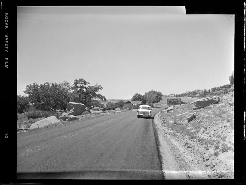 Historic Photo: Entering Bluff, June1957