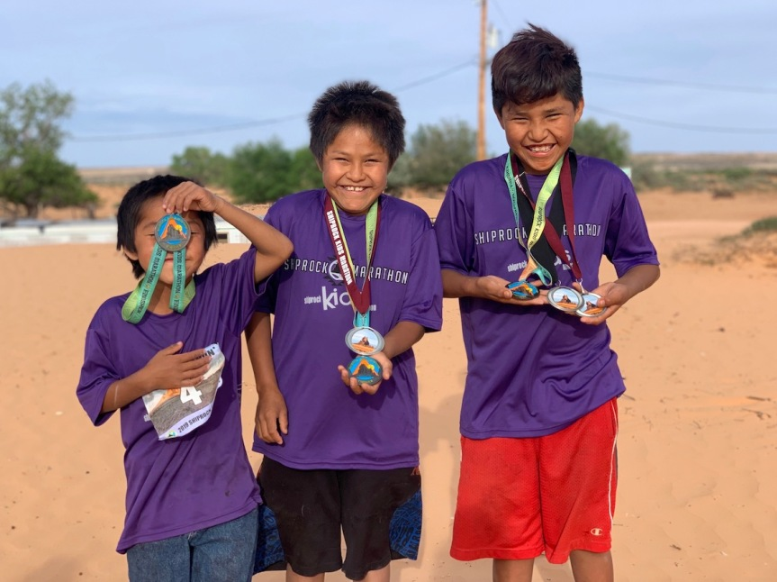 Bluff Elementary Students Participate In The Navajo YES Kids 'Marathon' InShiprock